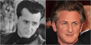 Sean Penn actor with hair transplant before after